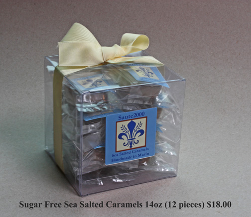 14oz sugar free sea salted caramels by Saute2000